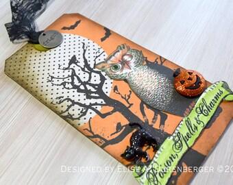 Mixed Media Halloween Keepsake Tag: Poison, Spells & Charms