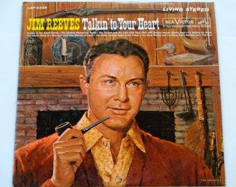 """Jim Reeves - Talkin ' auf dein Herz - """"warum ich liebe dich"""" - """"Annabel Lee"""" - Land - RCA Victor 1961 - Jahrgang Vinyl LP Schallplatte"""