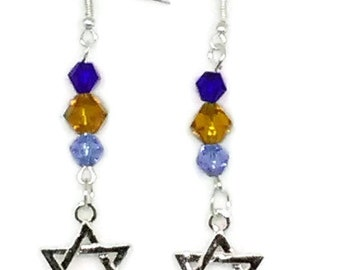 Star of David Hanukkah Earrings