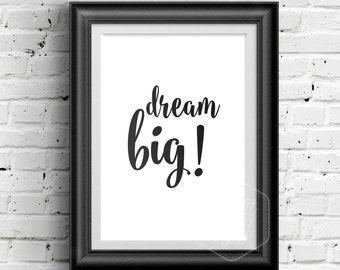 0156 Typographic Inspirational quote Print Wall Art Print Multiple Sizes