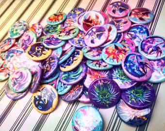 Pocket-sized Monster Pinback Buttons