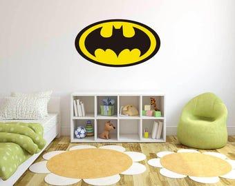 Logo Batman  -  Wall Decal For Home Nursery Decoration