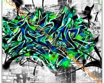 Custom Graffiti Name Canvas
