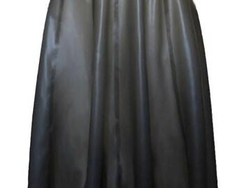 Full Latex Knee Length Skirt