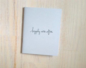 Medium Notebook: Happily Ever After, Wedding Notebook, Wedding Favor, Wedding, Blue, Favor, Journal, Blank, Unique, Gift, Notebook, N23