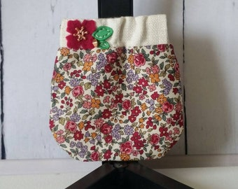 Flex frame (aka snappy pouch) coin pouch made with frou frou fabric