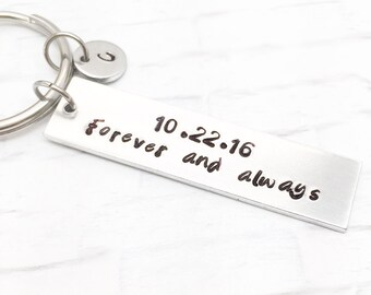 Forever and Always Keychain, Couple Keychains, Anniversary Keychains, Boyfriend Keychain, Anniversary Gifts for Men,  Engagement Keychains,