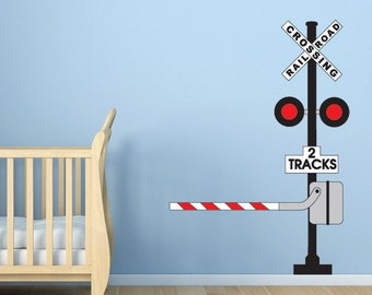 Railroad Crossing Sign Wall Decal