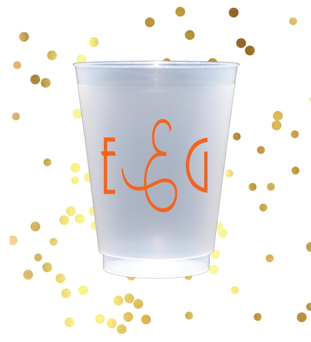 Personalized frosted cups, shatterproof cup, monogrammed plastic cup ...