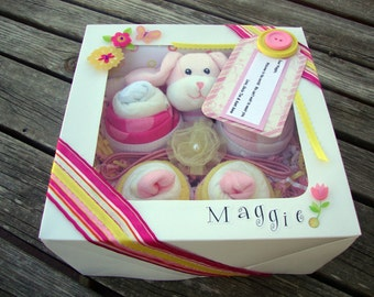 Washcloth/Onesie  Cupcake Set - Girl :)