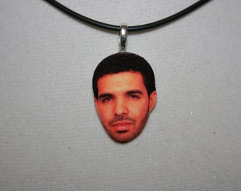 Drake Statement Necklace Face Charm Jewelry