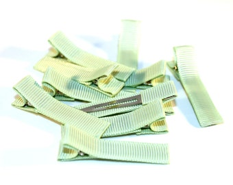 10 Partially Lined Clips - Seafoam