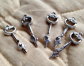 5 Classy Cat Keys Pendants or Charms  - FAST SHIPPING