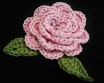 Rosa Feltable Flower - A crocheted rose pattern. Instant Download