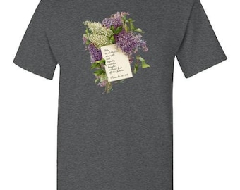 Proverbs 31 French Script & Lilacs Shirt Mother's Day Gift Women