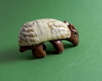 Armadillo Miniature Stoneware Armadillo Handmade Totem Clay Armadillo Sculpture Ceramic Armadillo Sculpture Armadillo Miniature Animal