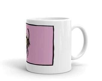 Vintage Pop Art Nature Bumble Bee Mug