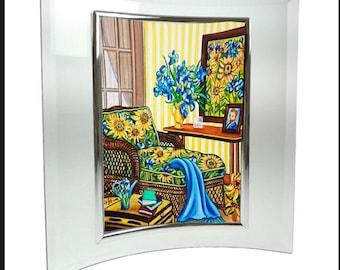 Print, Van Gogh Print, Framed van Gogh Print, Vincent van Gogh, van Gogh Sunflowers Print, Glass Picture Frame