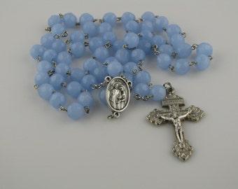 Baby Blue Holy Family Rosary