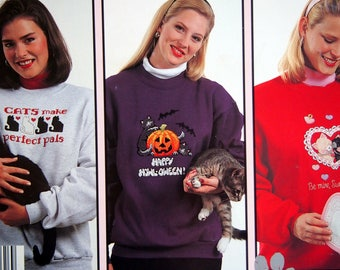 Meow Mix In Waste Canvas 10 Designs By Holly DeFount Vintage Cross Stitch Pattern Leaflet 1994