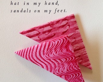 Origami Page Corner Bookmarks-Red