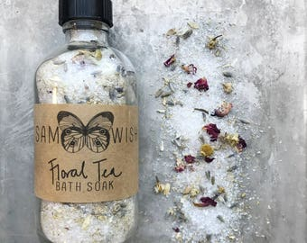 Floral Tea Bath Soak // All Natural // Organic // Vegan