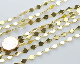 Marque Chain Gold Plated Brass.  High Quality 24 Karat Gold Plating. By THE YARD.