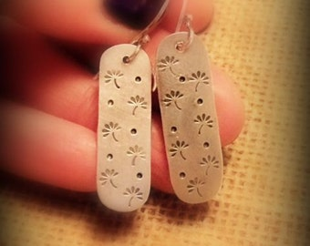 Make a Wish - Stamped Sterling Silver Earrings
