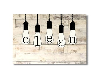 Lave vaisselle propre sale Flip aimant signe ferme pays ampoules navire tour ferme cuisine femme