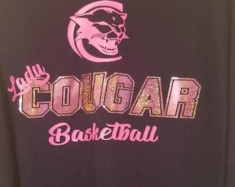 Lady Cougar Sports T-shirt