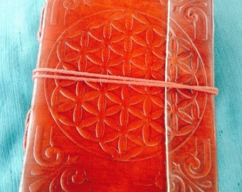 SALE 4.5 x 6 inch Flower of Life Blank Journal / Sketchbook / Magic Diary / Travel Journal