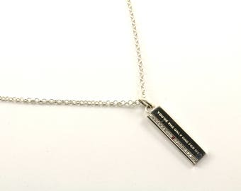 Vintage You're The Only One For Me Necklace 925 Sterling Silver NC 472