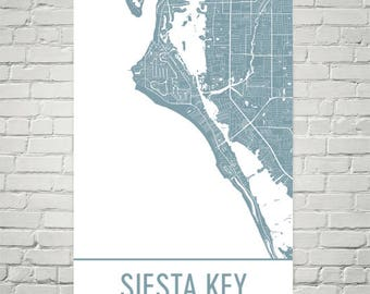 Siesta Key Map, Sarasota Art, Siesta Key Print, Siesta Key FL Poster, Siesta Key Wall Art, Florida Gifts, Map of Florida, Florida Poster