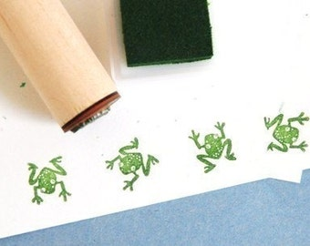 Perching Tree Frog Rubber Stamp
