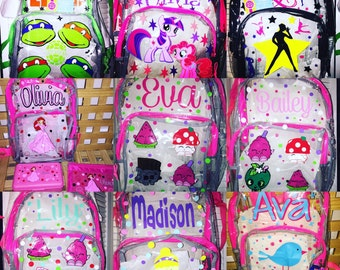 Custom Personalized Clear Backpack
