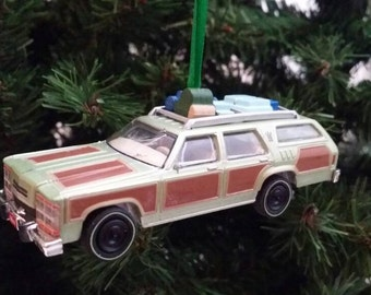 "Miniature Made National Lampoons ""Vacation"" Movie car Mothers Day, Fathers Day, Birthday Ornament 1:64"