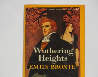 Wuthering Heights - Emily Bronte - A Signet Classic CY 1020  - Gothic Novel - Vintage Paperback Fiction Book 1959 - Rare Edition