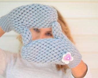 Mittens, Grey Mittens, Crochet Mittens,Grey Gloves, Handwarmer, Women Gloves, Crochet Gloves, Gift For Her