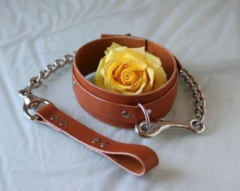 Collar with Chain Leash