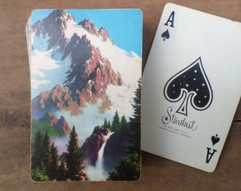 vintage deck of Playing Cards ANTIQUE MOUNTAIN SCENERY