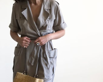 silk pocket dress