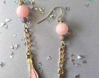 Champagne Celebration Bubbly Dangle Earrings