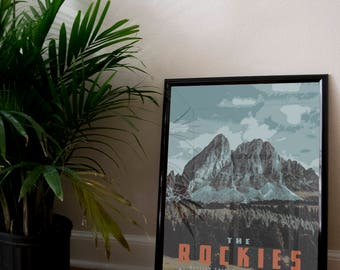 The Rocky Mountains Poster 11x17 18x24