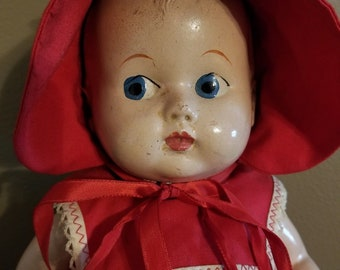 Vintage Composition Doll, Unmarked, 15 Inches