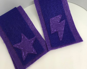 Superhero Cuffs - Customize and Personalize any colour - Purple/Blue