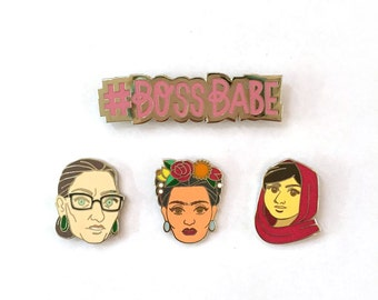 Enamel Pin Set - Boss Babes Collection