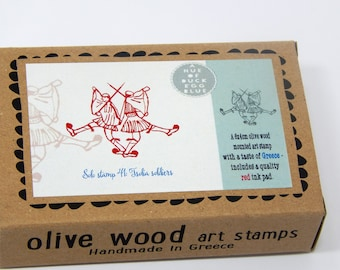 Tsolia Soldiers - Boxed Greece Inspired Stamp and Ink Pad