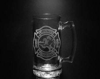 Volunteer Fire Department 25 Ounce Beer Mug.