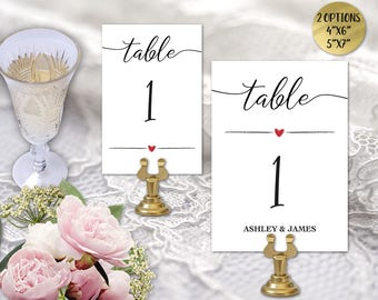 We Do Wedding Table Numbers, Printable Table Numbers, Table Numbers, DIY Table Numbers Editable, 4x6 5x7, PDF Instant Download WD127