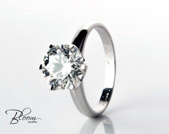 2.20 ct. Diamond Ring Diamond Engagement Ring Big Diamond Ring Engagement Ring White Gold Diamond Ring Big Engagement Ring White Gold Ring